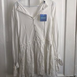 Misguided Size 2 White dress